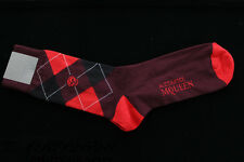 BNWT ALEXANDER McQUEEN MEN'S SKULL ARGYLE COTTON SOCKS MADE IN ITALY ONE SIZE