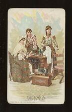 Roumania Social History SEWING Singer ADVERT chromo litho card c1900s?