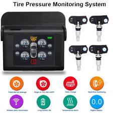 Solar Power Hang Tire Pressure Monitor System TPMS Wireless + 4 Internal Sensor