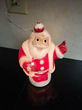 Vintage King Santa Claus Lite Bank Christmas Lighted Hard Plastic Missing Tree