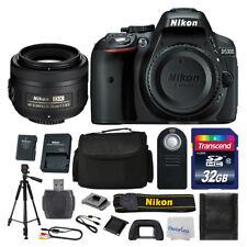 Nikon D5300 DSLR Camera Top Value Bundle: 35mm Lens + Macro Filters + 32GB +More
