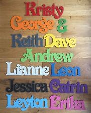Children's door plaque, personalised name, wall art personalised wooden names