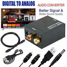 Audio Konverter Digital zu Analog Wandler Adapter RCA Klinke 2x Ausgang Toslink