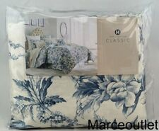 Hotel Collection Classic Botanical Toile Full / Queen Duvet Cover Blue