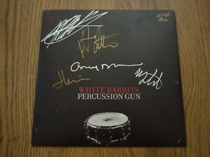 "WHITE RABBITS - Percussion Gun - UK 7"" - FULLY SIGNED  - MUTE"