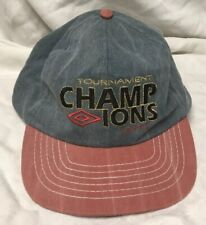 1995 Vint adjustable UMBRO tournament champions hat soccer cap Made in USA