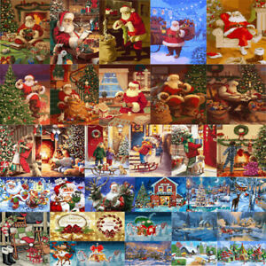 Christmas DIY Oil Painting Paint By Number Kit Digital Art Home Wall Decor Gifts