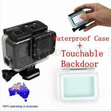 60M Waterproof Housing Case+Touch Screen Backdoor Cover For Gopro Hero 6 5 Black