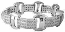 "Mens Hip Hop Silver CZ Iced Bling Kodak Black Jewelry Bracelet 8.5"" S#1"