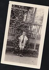 Old Vintage Antique Photograph Little Boy In Sailor Outfit Shorts