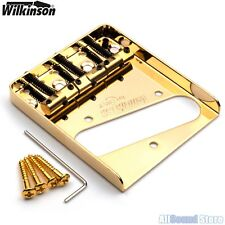 Wilkinson WTB Vintage Telecaster Guitar Bridge w/ Compensated Brass Saddles Tele