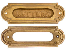 Heavy solid brass mail letters slot