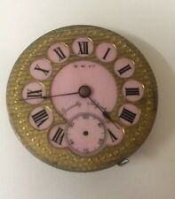 H.W. Co Specially Adjusted Pocket Watch Movement And Dial - Parts