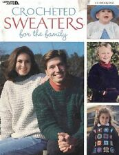 Leisure Arts 3226 Crocheted Sweaters for the Family 13 Designs 2000 50 Pages