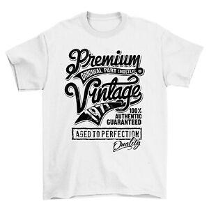 Premium Vintage Quality Original Parts Since 1971 50th Birthday Slogan T-shirt