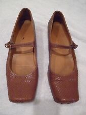 ANTHROPOLOGIE Chie Mihara flat rust square toe shoes SZ 7/37
