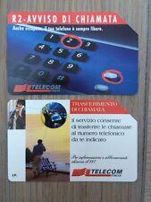 Pair Of Telecom Italia Phone Cards, Used, 5lire Value