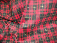 RED PLAID 100% COTTON CORDUROY $4.95 by the YARD – 21 WALE Wimpfheimer Velvet