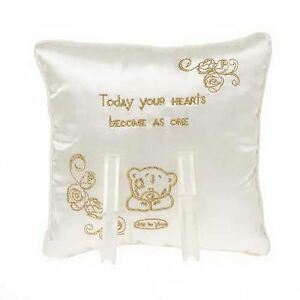 Me to You Bear Ring Cushion Engagement Bridal Wedding Pillow Romantic Gifts