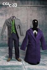 """1/6 Scale CGL C-02 Batman Joker Clothes Costume Suits Set For 12"""" Figure Body"""