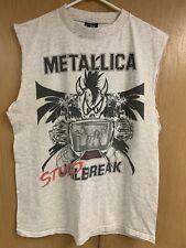 Metallica Vintage T Shirt Studio Jailbreak Gray Concert Shirt Muscle Shirt Large