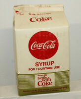 VINTAGE COCA COLA FOUNTAIN SYRUP CARTON ONE GALLON ..