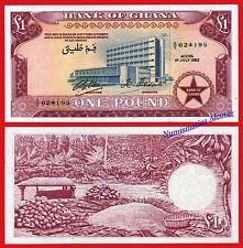 GHANA 1 Pound 1962 Pick 2d  SC- / aUNC