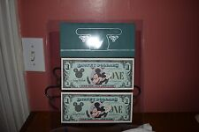 DISNEY DOLLARS~1987(2) $1 MICKEY~A SERIES~LOW #'S~CONSECUTIVE #'S~UNCIRCULATED