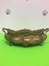 Antique /Vintage French Brass Rococo Jardiniere Planter Centerpiece Flower Box