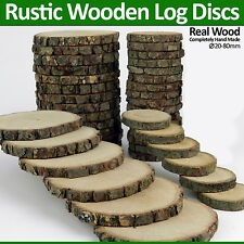 HAND MADE RUSTIC WOODEN LOG DISC WOOD SLAB PRICE TUGS HOME DECOR 20 mm TO 210 mm