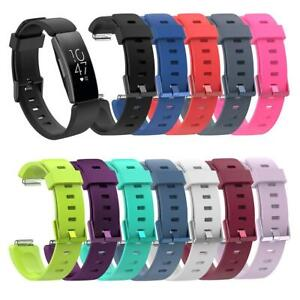 For Fitbit Inspire / HR Silicone Replacement Wrist Sports Watch Strap Band UK