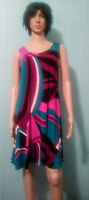 JOSTAR Tank DRESS Purple & BLUE Poly Spandex SlinkyTRAVEL FABRIC S, M, L, XL,2X