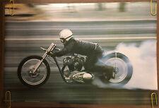 Original Vintage Poster Motorcycle Poster Pinup Speed Racer custom chopper