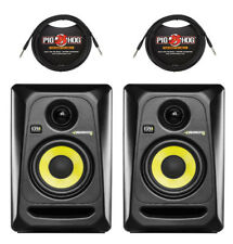 (2) KRK ROKIT 4 GENERATION 3 STUDIO MONITORS + (2) 10 FOOT TRS CABLES / Auth DLR