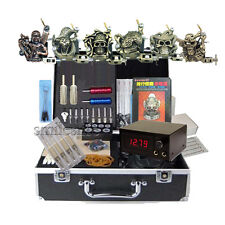 new 6 alloy Tattoo Machines kit power All Stuff Equipment tattooing store supply