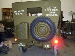 Pochoir jeep Willys bâche