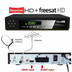 HD COMBO Freeview HD & FREESAT HD Receiver + FULL HD USB RECORDER TV Set Top Box