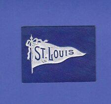 c1910s L21 tobacco / cigarette leather St Louis University pennant #1 Nice