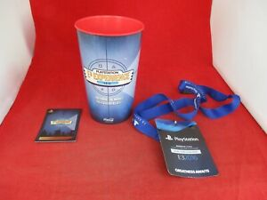 Sony Playstation Experience E3 2016 Coca Cola Promo Cup, Card & VIP Lanyard