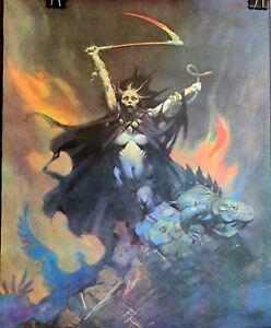 FRANK FRAZETTA Vintage 1980 Voodoo Woman Fantasy Poster UNUSED New Old Stock
