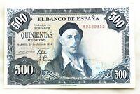 Spain-Billete. 500 Pesetas. 1954. Madrid. Serie M. SC-/UNC-. Escaso