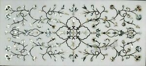 24 x 60 Inch Marble Coffee Table Top Inlay with MOP Work Kitchen Table for Home