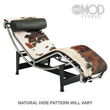 Cowhide Chaise Lounge Mid Century Modern Lounger Chair Pony Hide Chaise