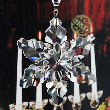 Clear Snowflake Crystal Ornament Pendant Christmas Decor Wedding Gift Suncatcher