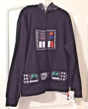 NWT Disney Star Wars Darth Vader Hooded zip front Jacket size Black Medium