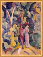 Couple on the Forest Track August Macke Wald Paar Spaziergang Bunt B A2 00725