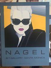 "Patrick Nagel Serigraph 24""x32"" Mirage Editions 1985 Dumas NC 5 B-1 Gallery"