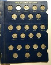 1916 TO 1945 MERCURY DIME COLLECTION / 77 COINS // MISSING ONLY 1916 D
