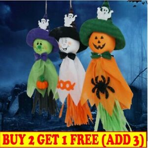 1pc Haunted Halloween Hanging Ghost Spooks Party Home Indoor Outdoor Decor Scary