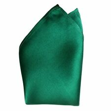 "Dark Green Silk Satin Pocket Square 16"" by Royal Silk"